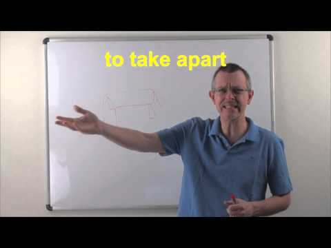Learn English: Daily Easy English 0876: to take APART (two definitions!)