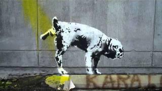 Banksy Dog Wizz in Beverly Hills - 2/16/11
