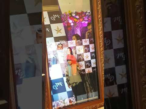 Mirror photo booth  with gold wood frame