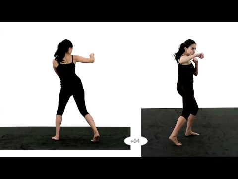 Animation Reference - Female Punch - Slow motion