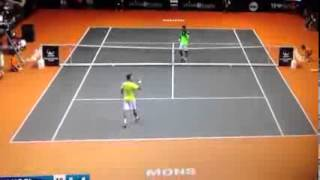 Marsel Ilhan - Thomaz Bellucci (Ethias Trophy 2014) Match Point Video