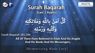 Download Surah Baqarah [Last 2 Verses] - Sheikh Ziyad Patel || Memorizing Made Easy || 1080pᴴᴰ