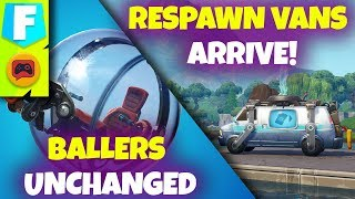 Fortnite News | Patch 8.3 Brings Respawn Vans to Fortnite but No Baller Changes