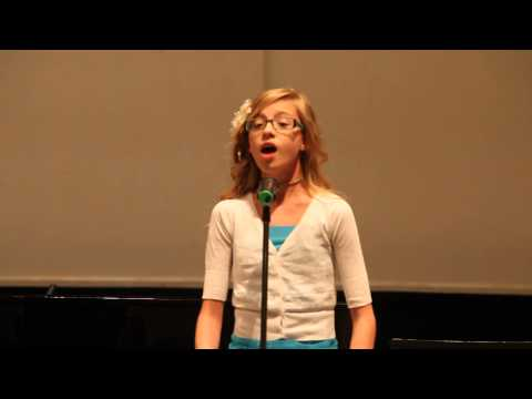 Homeward Bound vocal solo Topeka Young Musicians 2013 -Noel White 11 yrs