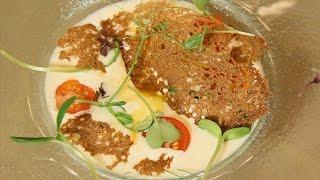 Сырный крем суп с морским гребешком. Рецепт от шеф-повара.