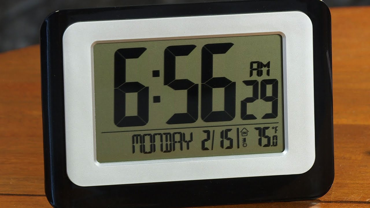 Lacrosse technology digital atomic clock in depth review youtube amipublicfo Choice Image