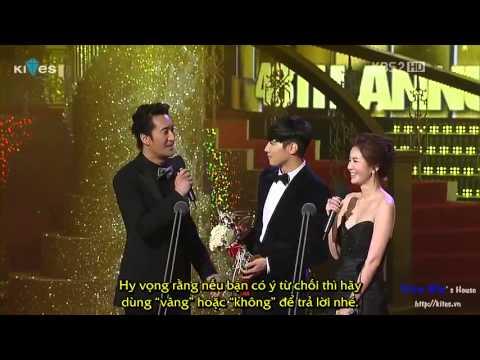 Vietsub by Won Bin's House Won Bin giành Popularity Award tại Grand Bell Award 171011