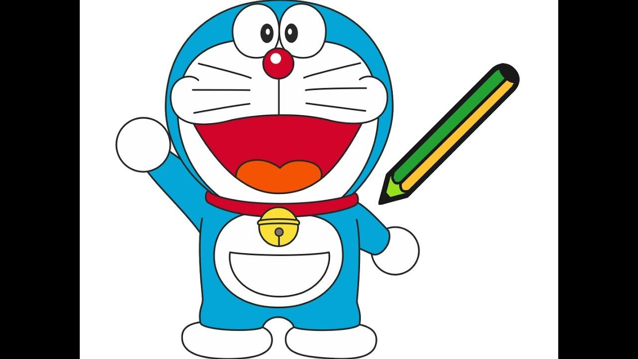 H ng d n b v doraemon how to draw doraemon youtube for Doraemon immagini da colorare