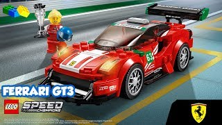 LEGO Speed Champions 🏁 Ferrari 488 GT3 Scuderia Corsa 🏁 - 75886 - Unboxing & Review BR