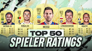 TOP 50 BESTE SPIELER RATINGS in FIFA 22 - FIFA 22 RATING PREDICTIONS🔥🔥