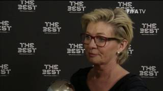 SILVIA NEID - Post Award Reaction - THE BEST FIFA FOOTBALL AWARDS 2016