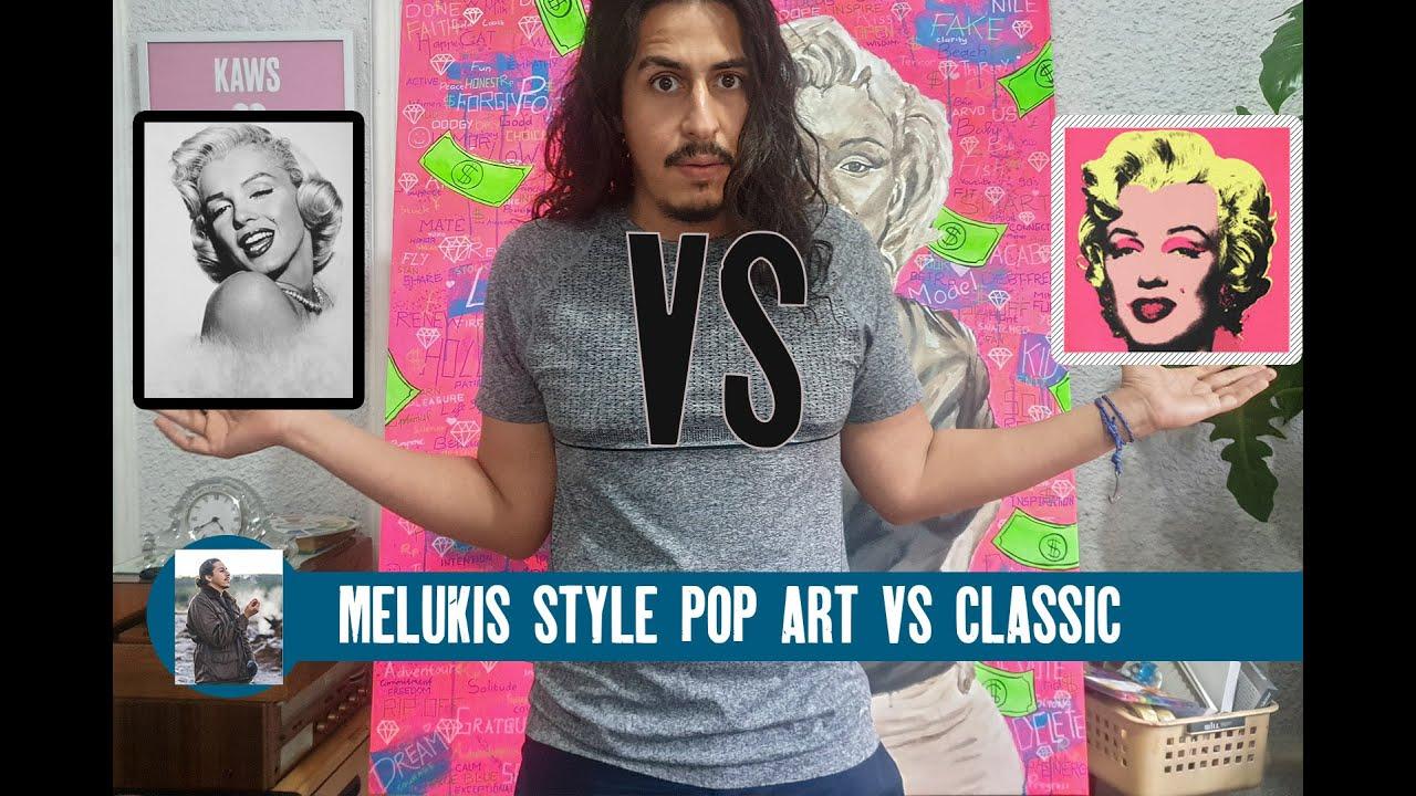 Cara Menggambar Muka Orang Marilyn Monroe ( Melukis Pop ART di kanvas cantik STYLE )