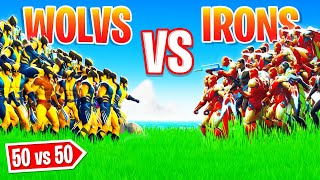50 boss WOLVERINE vs 50 boss IRON MAN ! (Evènement BOSS Fortnite Saison 4)