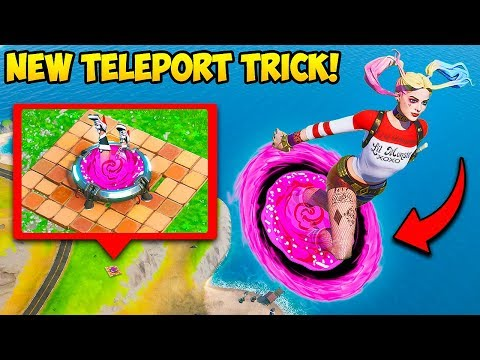 *NEW TRICK* TELEPORT TO HIGH GROUND! - Fortnite Funny Fails And WTF Moments! #824
