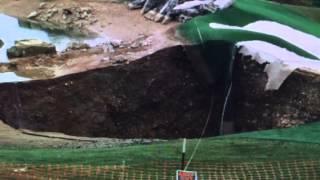 Whaaaaaaaat? 35 Foot Sinkhole Opens In Golf Course In Missouri