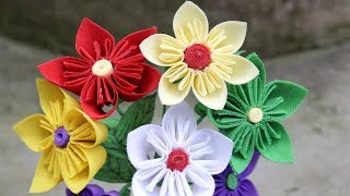 Shopping Bag Flower | Best out of Waste Idea | Handmade Flower Making Using Waste disposable BAG