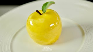 Golden Delicious Apple Shaped Dessert – Bruno Albouze – THE REAL DEAL