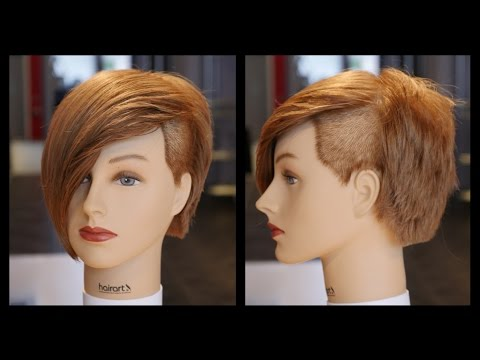 Emo Undercut Women's Layered Bob Haircut