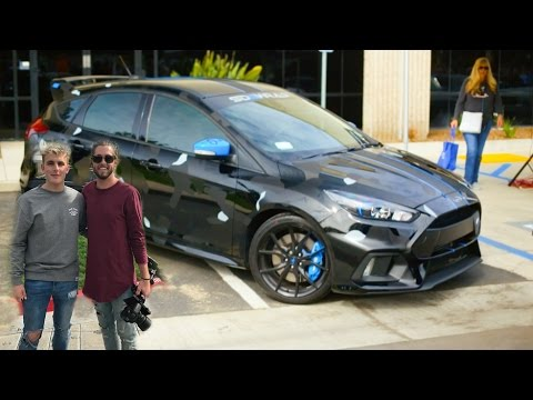 meeting jake paul getting a ride in his focus rs youtube. Black Bedroom Furniture Sets. Home Design Ideas
