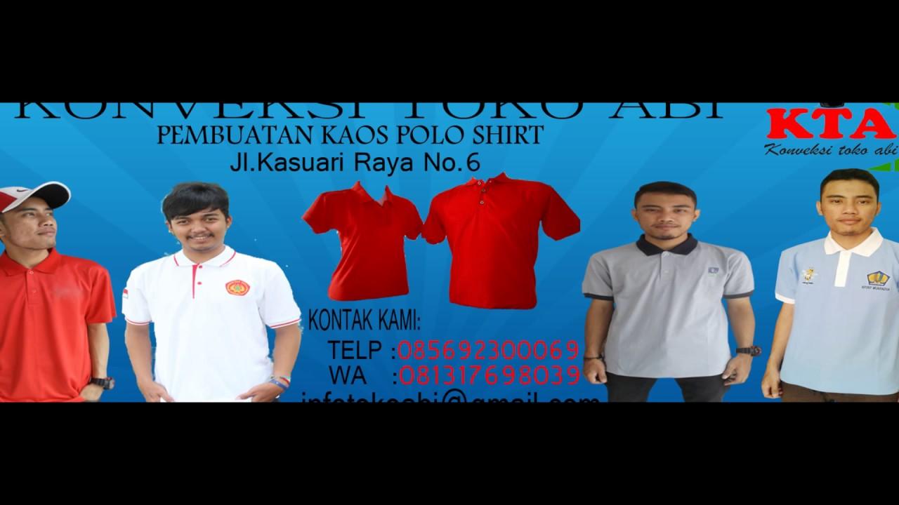 Konveksi Kaos Polo Shirt Jakarta Utara 085692300069 Youtube Kerah Bahan Lacoste Pique Tebal