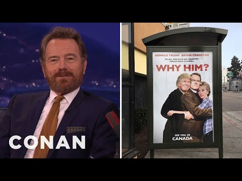 A Pro-Trump Artist Is Taunting Bryan Cranston  - CONAN on TBS