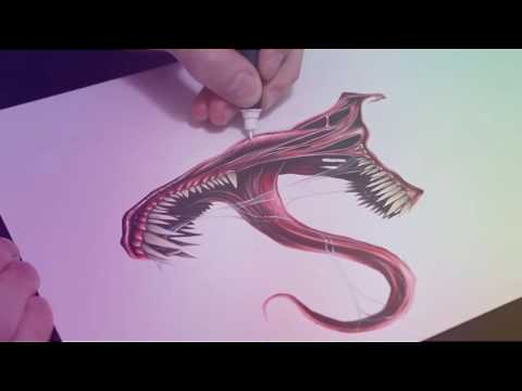 How to Start drawing Anti Venom Drawing Spider-Man very easy