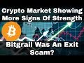 Crypto News  Crypto Market Showing More Signs Of Strength! Bitgrail Was An Exit Scam?