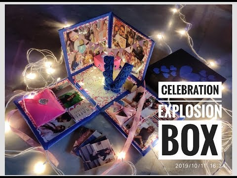 Birthday Explosion Box / Birthday Surprise Box / Explosion Box for Girlfriend /Anniversary Gift Idea