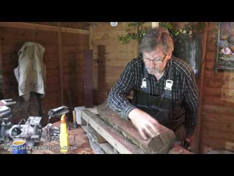 Carving a Storeton Stone Man (Tutorial) | Salvageandstone.co.uk