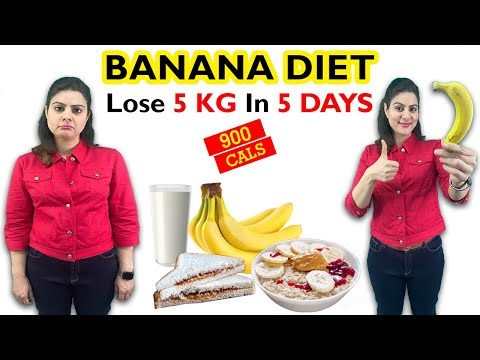 easy-banana-diet-plan-for-weight-loss-&-detox-|-900-calorie-diet-plan-|-lose-5-kgs-in-5-days-diet