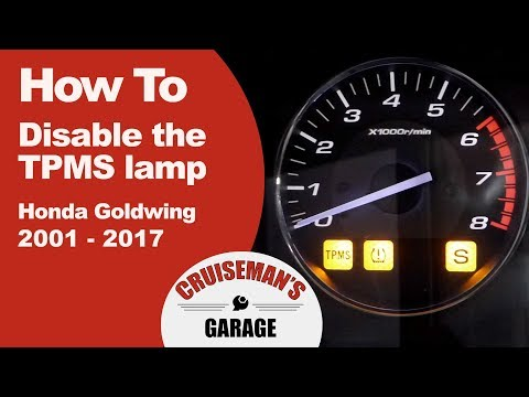 How To Disable Honda Goldwing TPMS Lamp