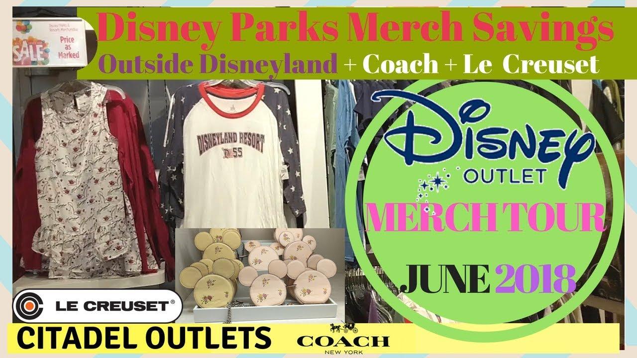 SHOP WITH ME! Disney Outlet Near Disneyland + Le Creuset + Coach Outlet  Disney Merch | June 2018