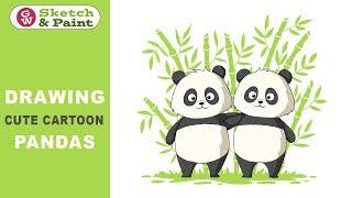 Zeichnen niedlichen cartoon-Pandas mit Adobe Illustrator