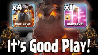 It's Good Play 4 Lava 11 Haste Easy 3 Star Any War Bases | Clash Of Clans War