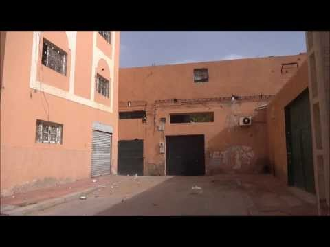 Western Sahara: Quiet Street of Laayoune (El Aaiun)  西サハラ:ラユーン(アイウン)の静かな通り