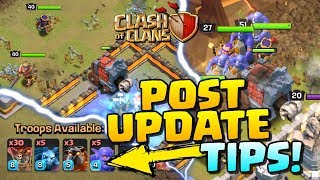 POST UPDATE TIPS and BEST SIEGE MACHINE in Clash of Clans!