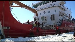 Coast Guard Ice Breaker Duluth Minnesota, on 3-17-13, video shot by Jamie Merideth