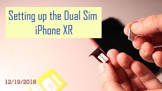 Gambar cover Setting up the dual sim iPhone XR with two sim cards