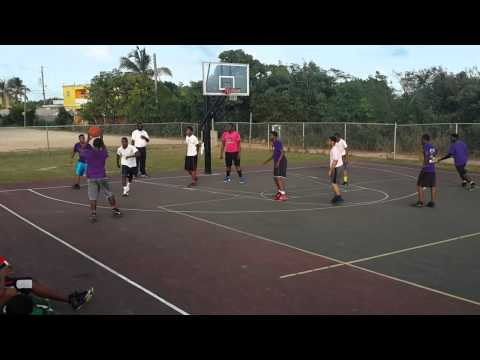 Anguilla youth basketball pink vs purple campus A 1st half