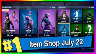 Fortnite Item Shop Luminos, Dream and New Shadow Ops Skins! July 21th, 2019 (Fortnite Battle Royale)