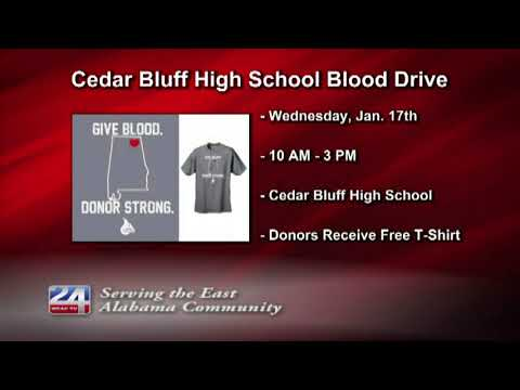 Cedar Bluff High School to Hold Blood Drive