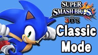 Super Smash Bros. For 3DS (Classic Mode | Sonic)