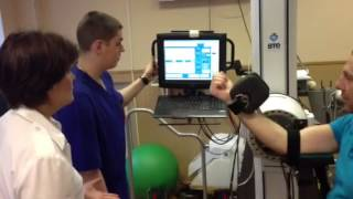 Реабилитация после травмы локтевого сустава(Реабилитация в медицинском центре Чайка на артрологическом программном комплексе Primus BTE., 2013-02-28T12:09:11.000Z)