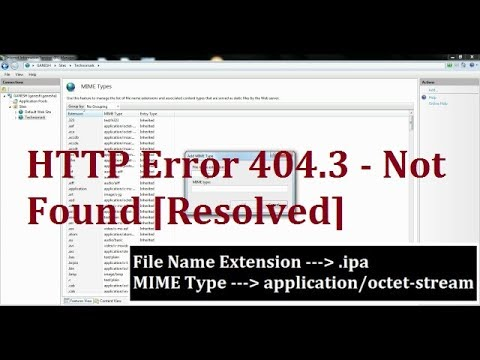 HTTP Error 404.3 Not Found in IIS - Resolved