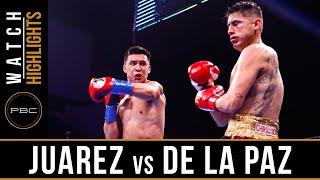 Juarez vs De La Paz HIGHLIGHTS: August 24, 2019 — PBC on FS1