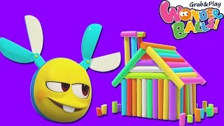 Cartoon | WonderBalls - House Building & More | Funny Cartoons For Children | WonderBalls Playground