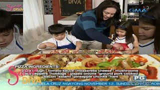 Sarap Diva: Home made pizza by Joel Cruz's twins