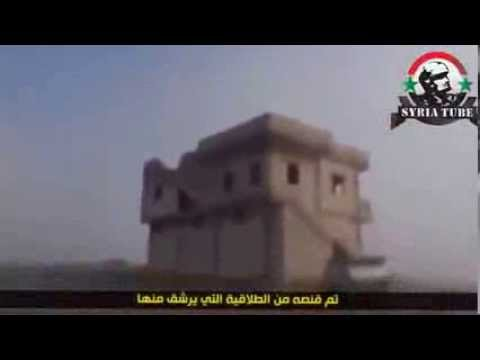 2 Islamist rebels are cut down by the Syrian Army.
