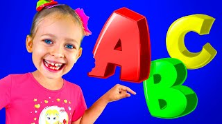 ABC   Kids cartoon songs about Alphabet   Learning Nursery Rhymes with Maya and Mary