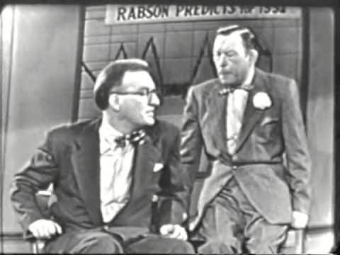 VINTAGE 1952 FRED ALLEN COMEDY SKIT TING A NEW PROGRAM  THE TODAY  & DAVE GALLOWAY